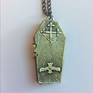 Jewelry - Gothic Coffin Necklace Pendant